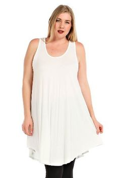 Plus Size Longline Tunic Tank. So many options...wear as a dress, with shorts, with leggings, add a kimono