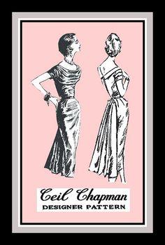 Vintage 1958 CEIL CHAPMAN Evening Dress by FarfallaDesignStudio, $269.00