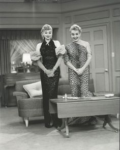 "the ""Glamour Girl"" episode of ""I Love Lucy"". when Lucy opened the door, and there stood Ethel in that leopard fishtail dress...LOL  <3"