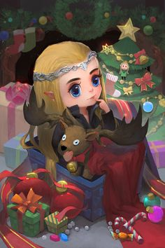 Merry Christmas and happy new year! by tinyyang.deviantart.com on @DeviantArt