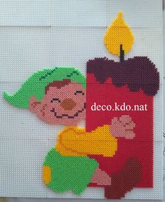 Christmas elf hama perler beads by Deco.Kdo.Nat