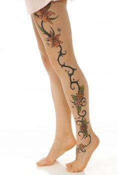 tattoo idea, vine, flower designs, leg tattoos, tattoo patterns, tattoo design, female tattoos, flower tattoos, new tattoos
