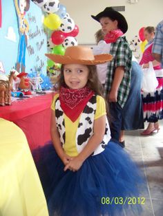 cowboycowgirl toy story woody and jessie birthday party ideas - Toddler Jessie Halloween Costume