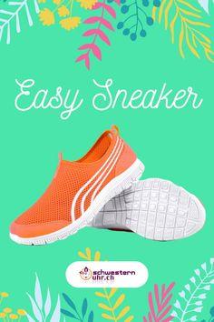 Frühlingsgefühle 🤩🌷Easy Sneaker. Die Sneaker für Pflegepersonal sind super bequem und ganz leicht. So kommst du problemlos durch den ganzen Tag. Gönne deinen Füssen etwas - Gehen wie auf Wolken. Nie wieder müde Füsse!  Jetzt bei schwesternuhr.ch bestellen - Ohne Versandkosten. Schweizer Unternehmen.   #schwesternuhrch #schwesternschuhe  #sneaker #easysneaker #pflege Orange, Nike Free, Memory Foam, Easy, Sneakers Nike, Super, Fashion, Comfortable Work Shoes, Comfortable Shoes