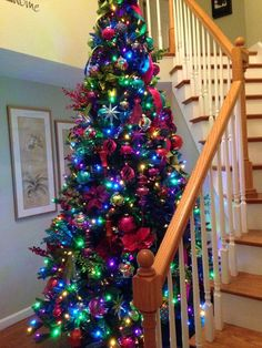Best Christmas tree decor ideas & inspirations for 2019 - Hike n Dip Make your Christmas decorations special with the best Christmas tree decor ideas. These inspiring Christmas trees are the perfect decor for the holidays. Simple Christmas Tree Decorations, Beautiful Christmas Trees, Colorful Christmas Tree, Christmas Colors, Christmas Themes, Christmas Tree Colored Lights, Christmas Decorating Themes, Themed Christmas Trees, Peacock Christmas Tree