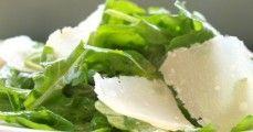 arugula salad with shaved parmesan and lemon vinegarette