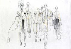 Fashion Sketchbook - fashion illustrations; fashion design sketches; fashion portfolio // Isabell Yalda Hellysaz