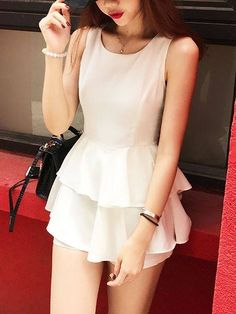 Chiffon Fashion Sleeveless Jumsuit  Code: SH17062317 (White/Black)  Price: $36  Product Information Description:  (1)Style:Fashion Style  (2)Combination forms:Single Set  (3)Sleeve Type:Sleeveless (4)Collar:Round Collar  Detail in Tile Measurement: S:Length:74cm, Bust:86cm, Waist:67cm  M:Length:75cm, Bust:90cm, Waist:71cm #clementcanopyprice, #clementcanopycondo, #clenmentcanopylocation, #Clementcanopyshowflat