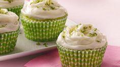Key Lime Cupcakes Recipe - Use yellow cake mix instead of lemon