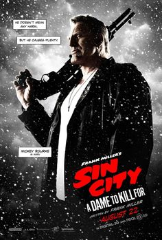 Sin City 2 | BadPoster Mickey Rourke Sin City a Dame to Kill for