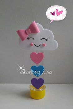 Tema chuva de amor!!!😍😘 Baby Shower Decorations For Boys, Bridal Shower Decorations, Baby Decor, Foam Crafts, Diy And Crafts, Crafts For Kids, Beautiful Flowers Images, Flower Images, 2 Baby