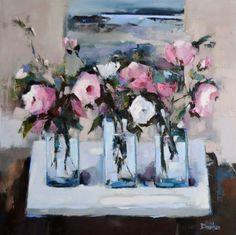 Scottish Artist Mary DAVIDSON-Roses and Work in Progress
