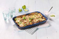 Her kombineres den italienske klassikeren med meksikanske smaker, og pasta er byttet ut med tortillalefser. Meksikansk lasagne er den nye tacoen.