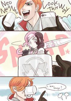 Roman and his smol ice cream child partner, Neo(politan)~ Rwby Anime, Rwby Fanart, Rwby Neo, Red Like Roses, Rwby Memes, Rwby Comic, Rwby Ships, Team Rwby, Rooster Teeth