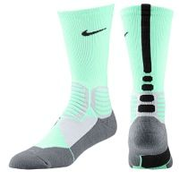 Nike Hyper Elite Basketball Crew Socks - Men's - Light Green