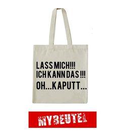Kaputt  Jutebeutel von MyBeutel auf DaWanda.com