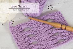 Hopeful Honey | Craft, Crochet, Create: How To: Crochet The Bow (Butterfly) Stitch - Easy ...