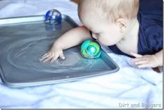 Baby Water Play: for the babies who aren't sitting yet
