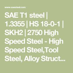 Steel is a tungsten high speed tool steel. It is used to high strength,hardness, high temperature tools products. High Speed Steel, Tool Steel