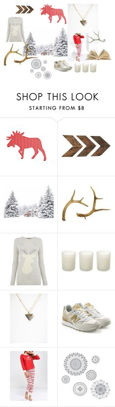 """""""Cozy and geometric"""" by nuann ❤ liked on Polyvore featuring WALL, Oasis, Casa Couture, New Balance and Wall Pops!"""