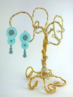 Infinity Frozen Elza Light Blue Stud Earring by RenaSoutacheArt