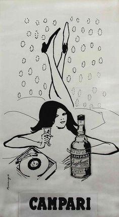 Franz Marangolo Studio per pubblicità Campari, 1960 c.