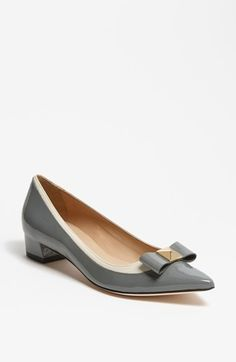 Anika pumps in grey patent.