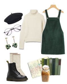 """""""Untitled #42"""" by trash4fashion on Polyvore featuring Burberry, HUE, Dr. Martens, Element, Lulu Frost and Moleskine"""