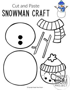 Do you want to build a frosty the snowman with your kids? Here's a simple cut Christmas Crafts For Kids To Make, Craft Projects For Kids, Christmas Art, Art Projects, Craft Ideas, Printable Templates, Printable Crafts, Free Printable, Craft Activities