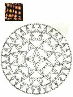 Star crochet chart