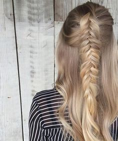 Textured Fishtail Braided Winter Hairstyles