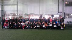 Poza de grup cu pompierii participanți la concursul de fotbal - 2013