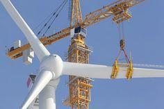 Liebherr - Tower Crane during wind turbine erection