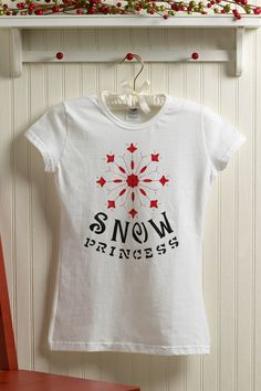 Snow princess fabric paint t-shirt