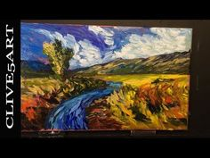 Painting like Van Gogh Acrylic painting for beginners clive5art - YouTube