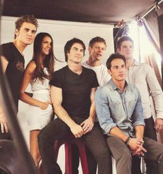 My life revolves around these people. Nina Dobrev, Ian Somerhalder, Paul Wesley, Zach Roerig, Steven R McQueen & Michael Trevino. Some of The Vampire Diaries cast.
