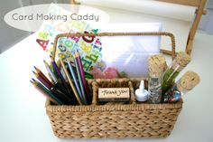 Playful Learning: Card Making Caddy