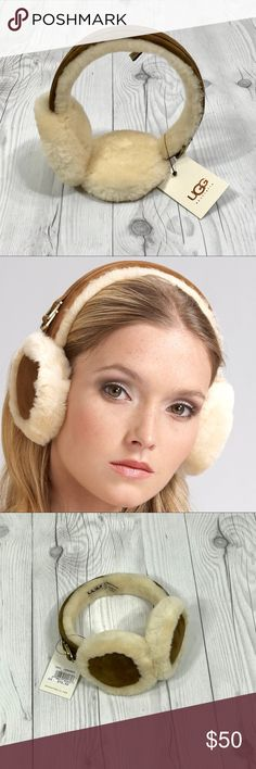 UGG Classic Shearling Earmuffs Crafted with the highest quality shearling. They're slippers for your ears. Get 'em while they're hot . . . And you're cold. :) Brand new. UGG Accessories Hats