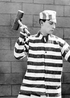 "Buster Keaton in ""Convict 13"" (1920)"