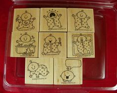Stampin Up Baby Firsts 8 PC Set 2000   eBay