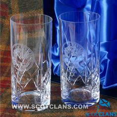 Maxwell Clan Crest Crystal Tumblers