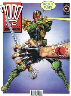 CLASSIC COVER: Judge Dredd by Cliff Robinson for 2000 AD Prog 745 (24th August…
