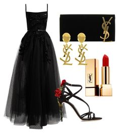 """YSL"" by cristina-gil-1 on Polyvore featuring moda, Yves Saint Laurent, Elie Saab y Dolce&Gabbana"