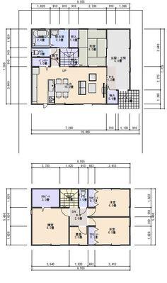 土間スペースのある住宅の間取りプラン