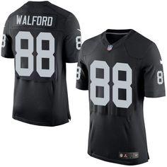 Raiders #88 Clive Walford Black Team Color Men's Stitched NFL New Elite Jersey