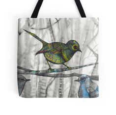 little bird little bird resting in the tree fashion bag by melanie dann