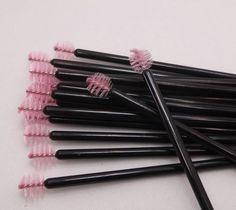 Pink-Single-Sphere-Mascara-Wands-Brushes-Disposable-Eyelash-Extension