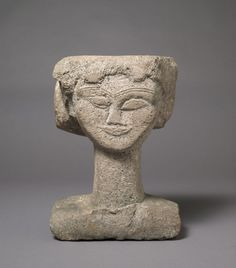 Amedeo Modigliani Head, ca. 1911 Stone, 39.4 x 31.1 x 18.7 cm (Ceroni VIII)