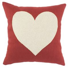 Heart Pillow in Red