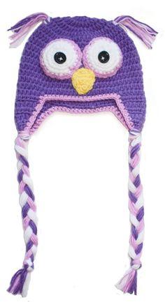 Hekla lilla ugle lua til barn Crochet Hats, Barn, Knitting Hats, Converted Barn, Barns, Sheds